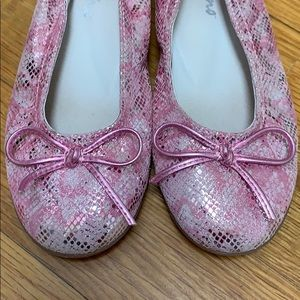 Naturino pink silver bow girl's dress shoes 11